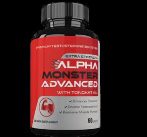 Health bosster supplement in red plastic bottle