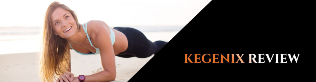 Woman doing push-ups on the side of the beach