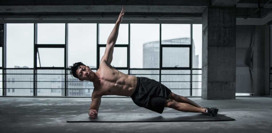 Athlete with firm muscles