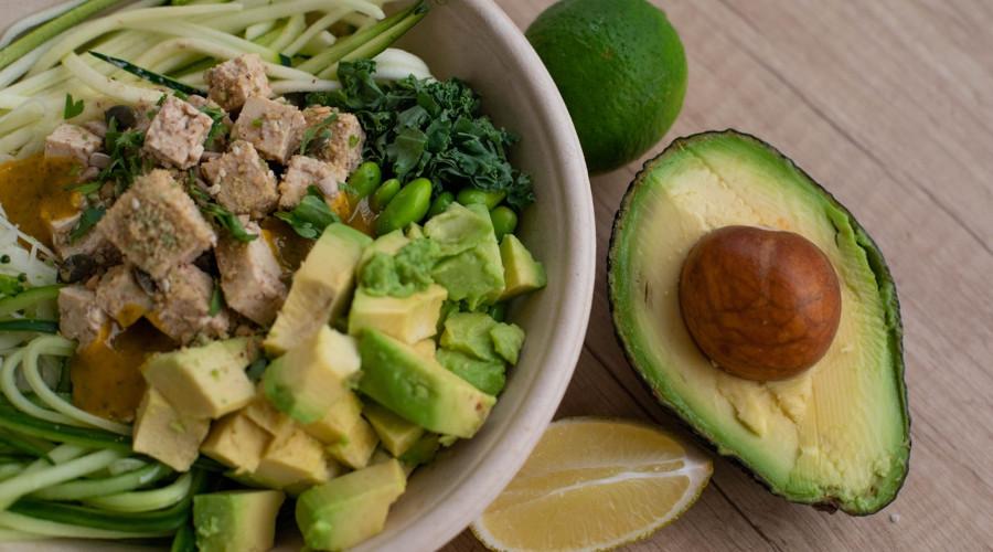 Bowl of keto diet salad