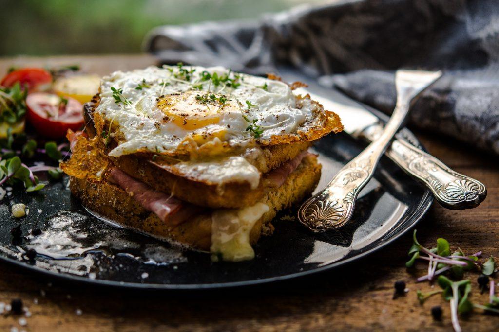 Breakfast is ready in the table