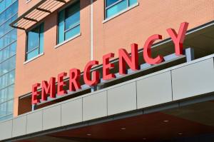 Hospital emergency signage