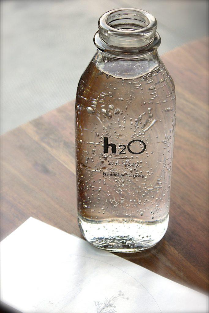 A bottle of drinking water