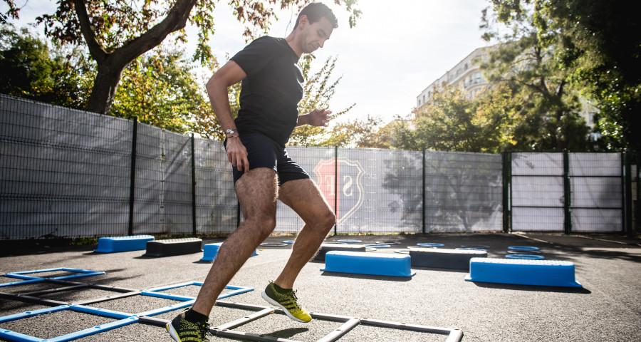 Man doing intense workout
