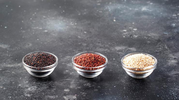 Quinoa in bowls