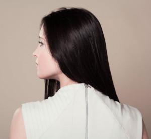 Woman showing nice shiny hair