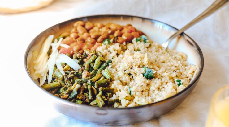 Healthy vegan food on a plate