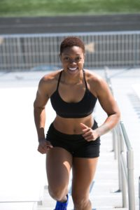 A woman keeping fit