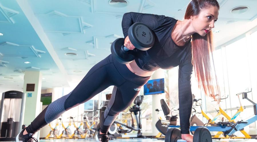 Woman doing workouts