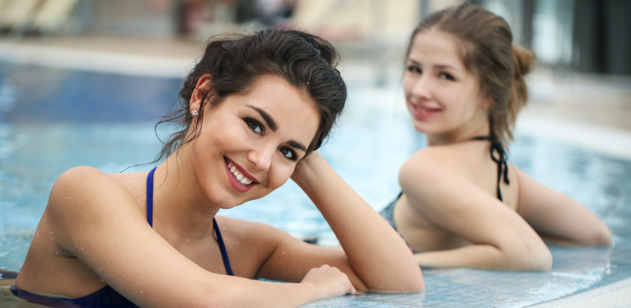 Ladies in a swimming pool